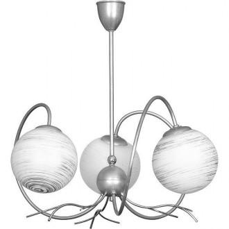 ALDEX 556E | RomanceA Aldex mennyezeti lámpa 3x E14 ezüst, fehér