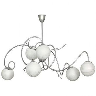 ALDEX 556K1 | RomanceA Aldex mennyezeti lámpa 6x E14 ezüst, fehér