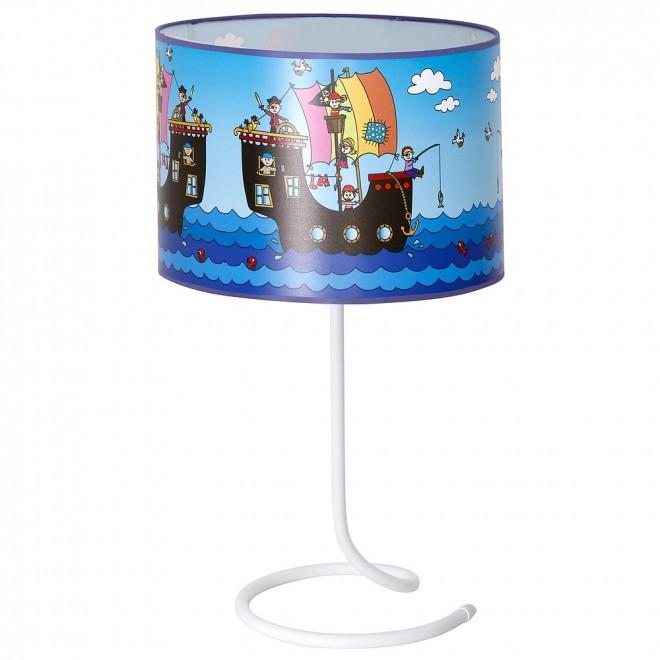 ALDEX 657B12 | Piraci_I Aldex asztali lámpa kapcsoló 1x E14 kék, többszínű