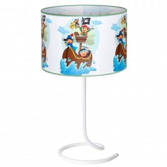 ALDEX 657B16 | Piraci_II Aldex asztali lámpa kapcsoló 1x E14 fehér, többszínű