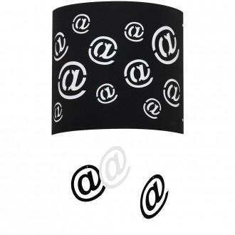 ALDEX 703C/1 | Mail Aldex fali lámpa 1x E27 fekete, fehér