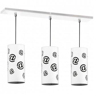 ALDEX 703E | Mail Aldex függeszték lámpa 3x E14 fehér, fekete