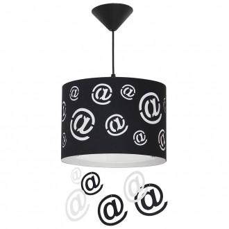 ALDEX 703G/1/D | Mail Aldex függeszték lámpa 1x E27 fekete, fehér