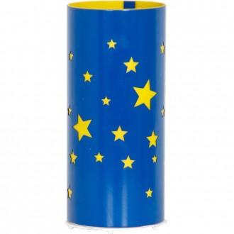 ALDEX 710B/11 | Gwiazdy Aldex asztali lámpa 22,5cm kapcsoló 1x E14 kék, sárga