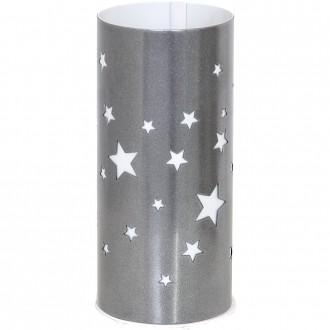 ALDEX 710B/3 | Gwiazdy Aldex asztali lámpa 22,5cm kapcsoló 1x E14 ezüst, fehér