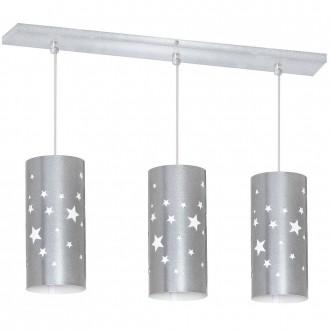 ALDEX 710E/3 | Gwiazdy Aldex függeszték lámpa 3x E14 ezüst, fehér