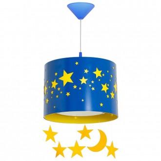 ALDEX 710G/11/D | Gwiazdy Aldex függeszték lámpa 1x E14 kék, sárga, fehér