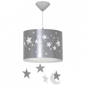 ALDEX 710G/3/D | Gwiazdy Aldex függeszték lámpa 1x E14 ezüst, fehér