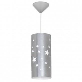 ALDEX 710G/3/M | Gwiazdy Aldex függeszték lámpa 1x E14 ezüst, fehér