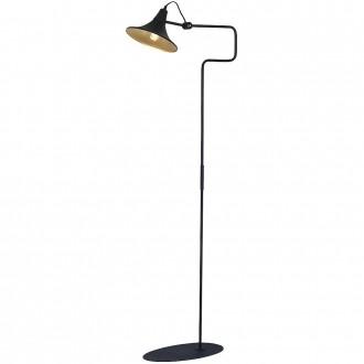 ALDEX 771A1/1 | Antika Aldex álló lámpa 143cm kapcsoló elforgatható alkatrészek 1x E27 fekete, arany