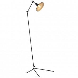 ALDEX 771A1 | Antika Aldex álló lámpa 143cm kapcsoló elforgatható alkatrészek 1x E27 fekete, arany