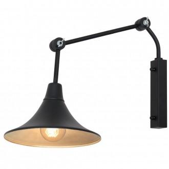ALDEX 771C1/1 | Antika Aldex falikar lámpa elforgatható alkatrészek 1x E27 fekete, arany