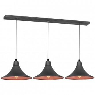 ALDEX 785E/19 | Nani Aldex függeszték lámpa 3x E27 grafit, vörösréz