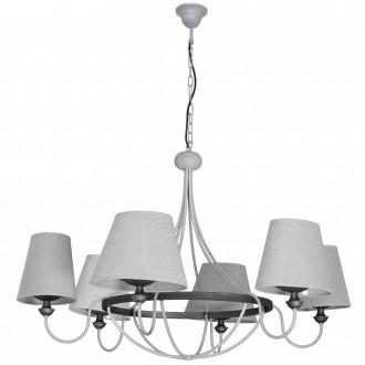 ALDEX 800K/21 | Barras Aldex csillár lámpa 6x E14 szürke