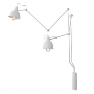 ALDEX 814D | Aida-Bibi Aldex falikar lámpa elforgatható alkatrészek 2x E27 fehér