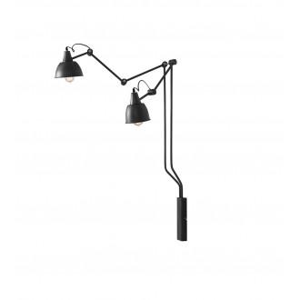 ALDEX 814D19 | Aida-Bibi Aldex falikar lámpa elforgatható alkatrészek 2x E27 fekete