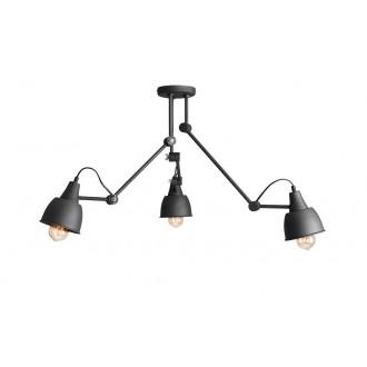 ALDEX 814PL_E19 | Aida-Bibi Aldex mennyezeti lámpa elforgatható alkatrészek 3x E27 fekete