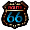ALDEX 821S2 | Route-66 Aldex fali lámpa 1x E14 fekete, többszínű