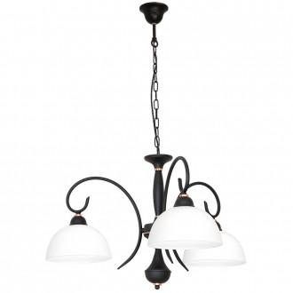 ALDEX 829E/1 | RenAl Aldex csillár lámpa 3x E27 fekete, fehér, vörösréz