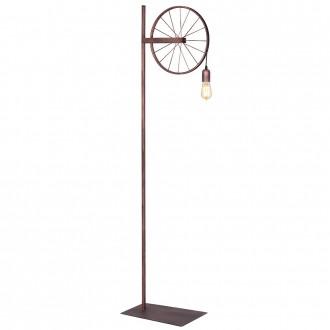 ALDEX 834A | Bang-Min Aldex álló lámpa 165cm kapcsoló 1x E27 antik vörösréz, fekete