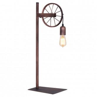 ALDEX 834B | Bang-Min Aldex asztali lámpa 66cm kapcsoló 1x E27 antik vörösréz, fekete