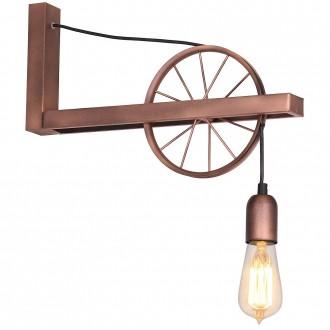 ALDEX 834C | Bang Aldex fali lámpa 1x E27 antik vörösréz