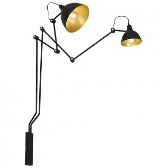 ALDEX 843D | Aida-Bibi Aldex falikar lámpa elforgatható alkatrészek 2x E27 fekete, arany