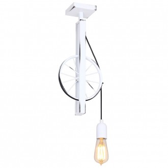 ALDEX 844G | Bang-Min Aldex mennyezeti lámpa 1x E27 antikolt fehér, fekete