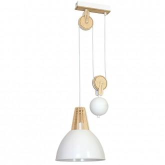 ALDEX 873G/D | Fasan-Fumus-Zorro Aldex függeszték lámpa ellensúlyos, állítható magasság 1x E27 fehér, fa.