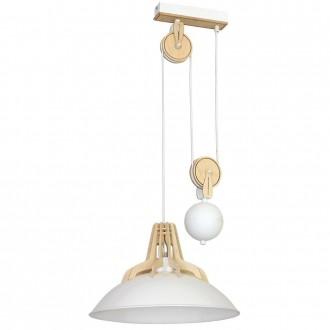 ALDEX 874G/D | Fasan-Fumus-Zorro Aldex függeszték lámpa ellensúlyos, állítható magasság 1x E27 fehér, fa.
