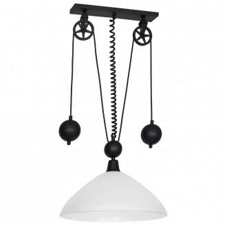 ALDEX 901G2 | Danton-I Aldex függeszték lámpa ellensúlyos, állítható magasság 1x E27 fekete, fehér