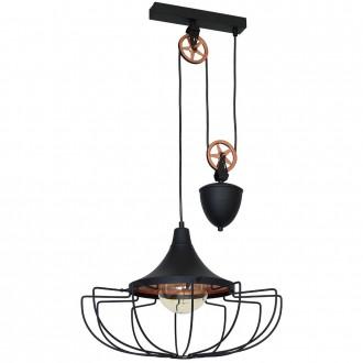 ALDEX 902G1/L | Danton-II Aldex függeszték lámpa ellensúlyos, állítható magasság 1x E27 fekete, bronz