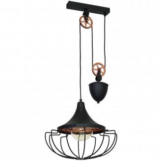 ALDEX 902G1/M | Danton-II Aldex függeszték lámpa ellensúlyos, állítható magasság 1x E27 fekete, bronz