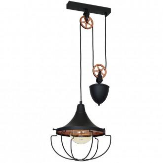 ALDEX 902G1/S | Danton-II Aldex függeszték lámpa ellensúlyos, állítható magasság 1x E27 fekete, bronz