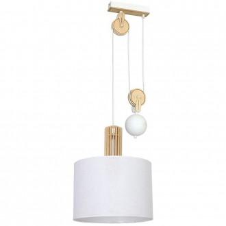 ALDEX 903G/D | Castro Aldex függeszték lámpa ellensúlyos, állítható magasság 1x E27 fehér, fa.