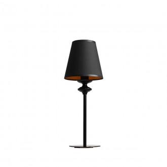 ALDEX 933B | Chocco Aldex asztali lámpa 37cm kapcsoló 1x E14 fekete, arany