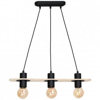 ALDEX 940E | Alba-I Aldex függeszték lámpa 3x E27 fekete, natúr