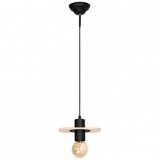 ALDEX 940G | Alba-I Aldex függeszték lámpa 1x E27 fekete, natúr