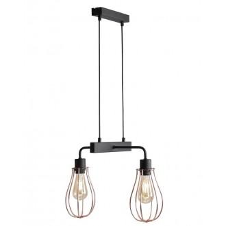 ALDEX 960H/L | Allegra Aldex függeszték lámpa 2x E27 fekete, vörösréz