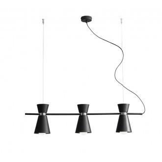 ALDEX 989E/1 | Kedar Aldex függeszték lámpa elforgatható alkatrészek 3x E27 fekete, króm