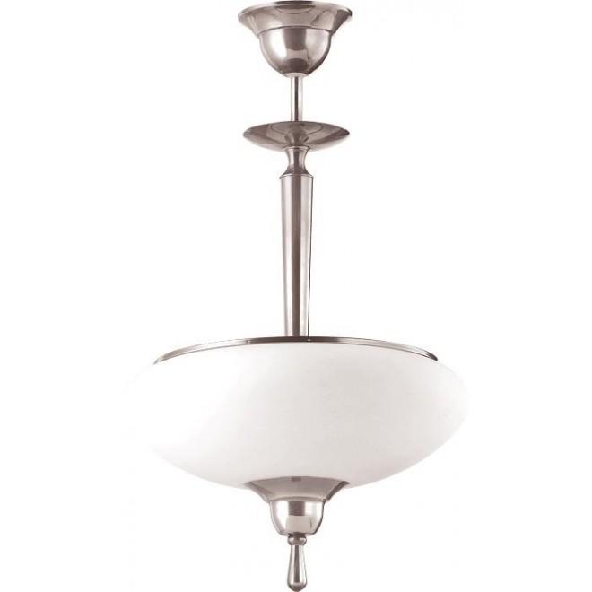 AMPLEX 101 | Agat Amplex függeszték lámpa 2x E14 króm, fehér