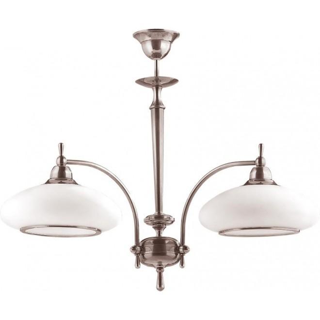 AMPLEX 104 | Agat Amplex csillár lámpa 2x E27 króm, fehér