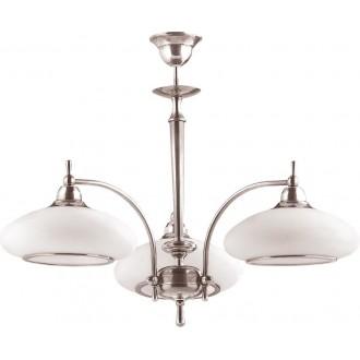 AMPLEX 105 | Agat Amplex csillár lámpa 3x E27 króm, fehér
