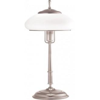 AMPLEX 108 | Agat Amplex asztali lámpa 49cm vezeték kapcsoló 1x E27 króm, fehér