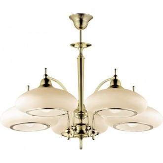 AMPLEX 115 | Agat Amplex csillár lámpa 5x E27 arany, krémszín