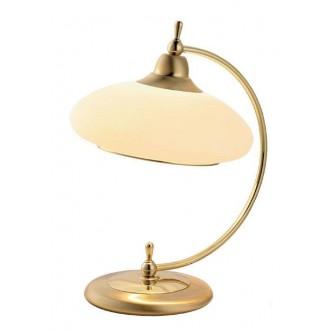 AMPLEX 116 | Agat Amplex asztali lámpa 37cm vezeték kapcsoló 1x E27 arany, krémszín