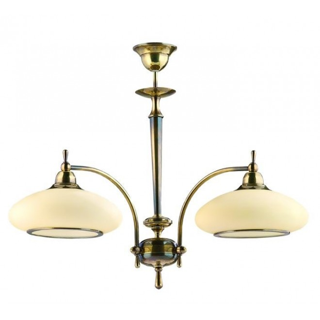 AMPLEX 122 | Agat Amplex csillár lámpa 2x E27 patina, krémszín