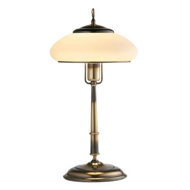 AMPLEX 126 | Agat Amplex asztali lámpa 49cm vezeték kapcsoló 1x E27 patina, krémszín