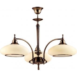 AMPLEX 429 | Agat Amplex csillár lámpa 3x E27 matt patina, krémszín