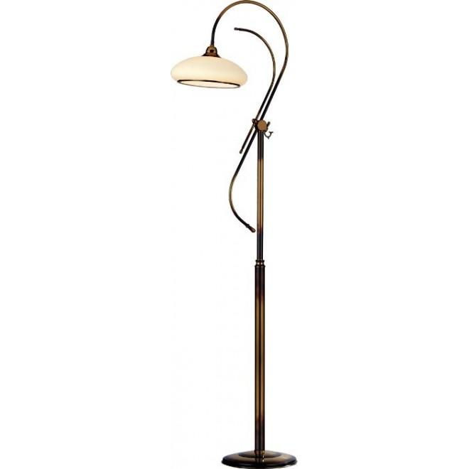 AMPLEX 433 | Agat Amplex álló lámpa 180cm vezeték kapcsoló 1x E27 matt patina, krémszín